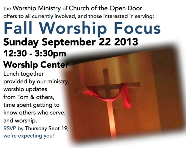 Fall Worship Focus 13